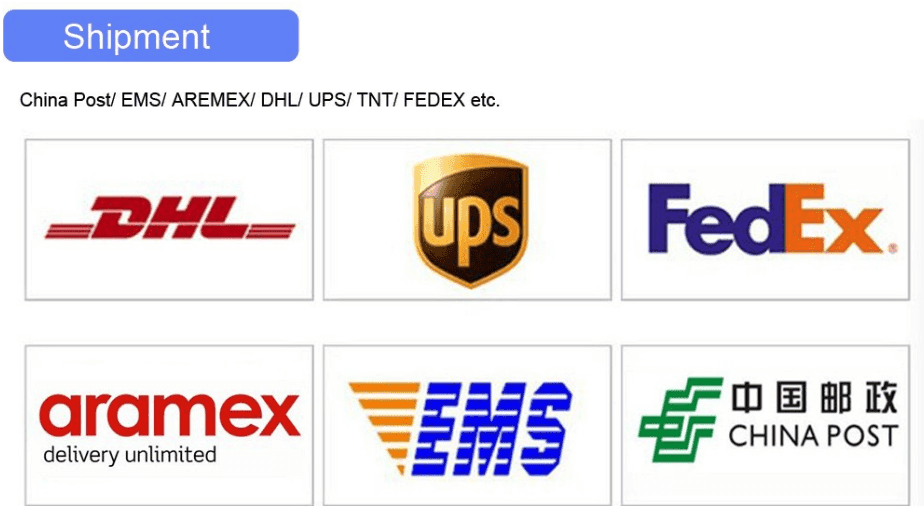 What we have for your choices? About shipment, payment and products