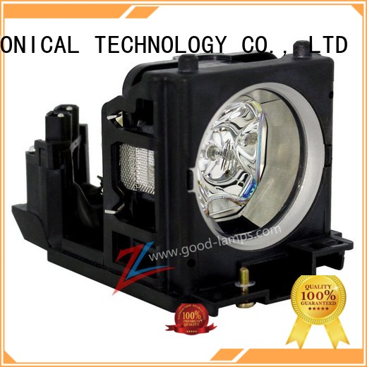 Replacement Lamp Assembly with Genuine Original OEM Bulb Inside for HITACHI CP-X1350 Projector Power by Ushio